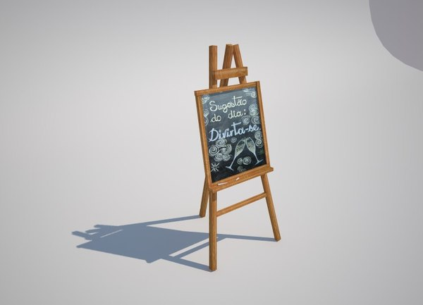 3d model of black table menu