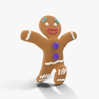 gingerbread man rigged 3d model