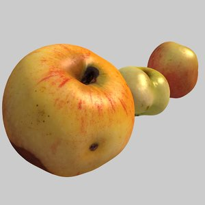 3d model rotten badly shaped apples