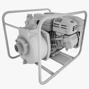 3d industrial pump subaru model