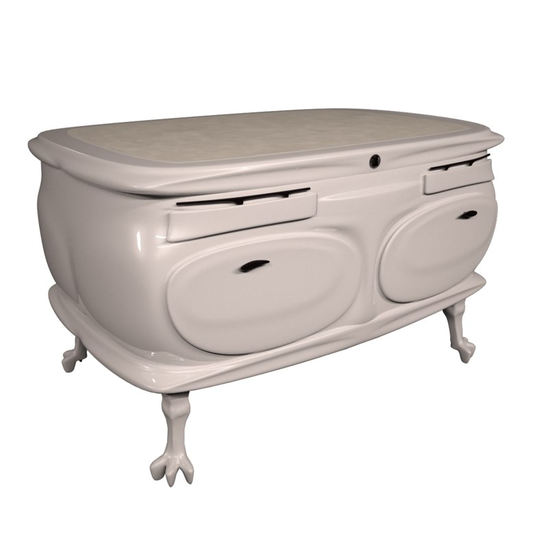 3d model drawers neoclassic