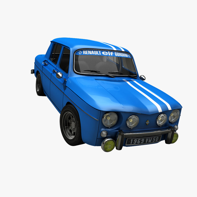3d vintage rally car