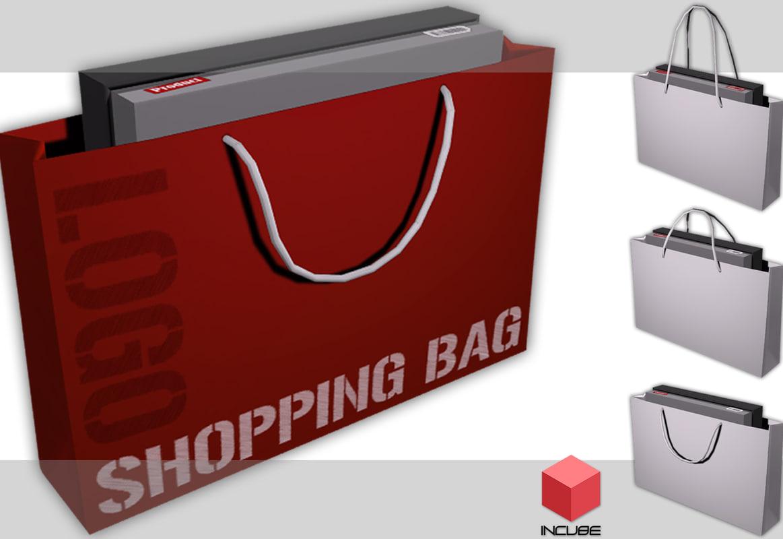 shopping bag 3d obj