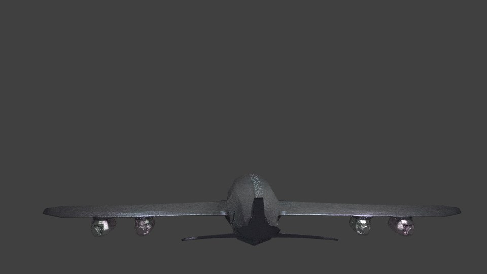 3d model of cargo airplane