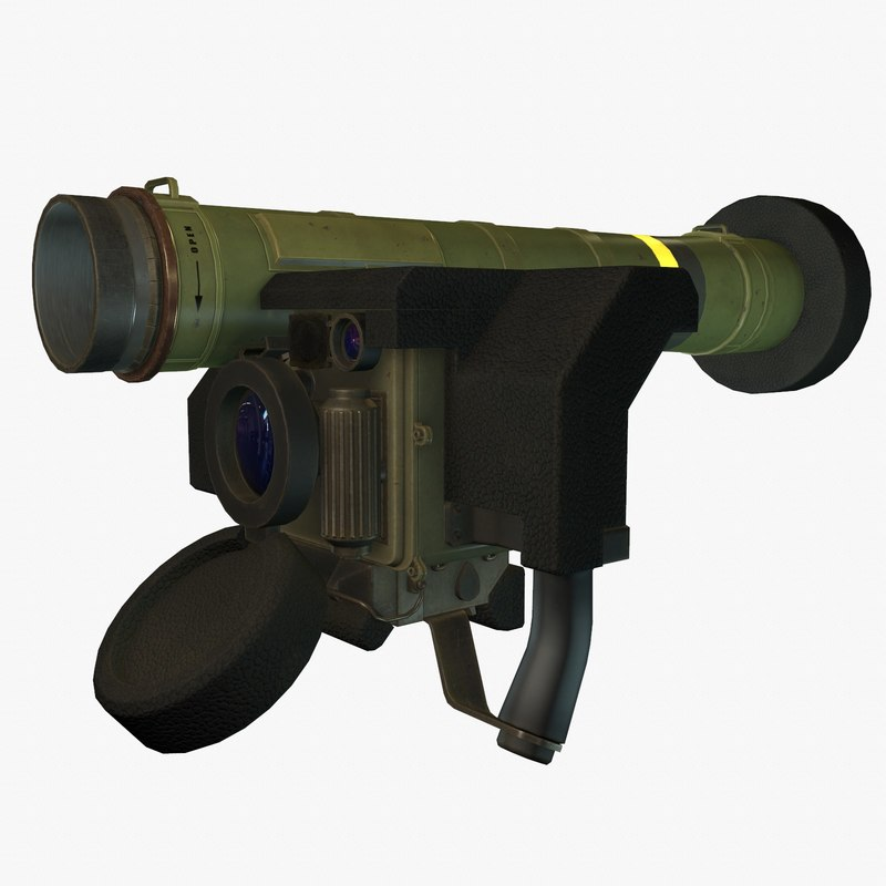 3d low-poly fgm-148 javelin