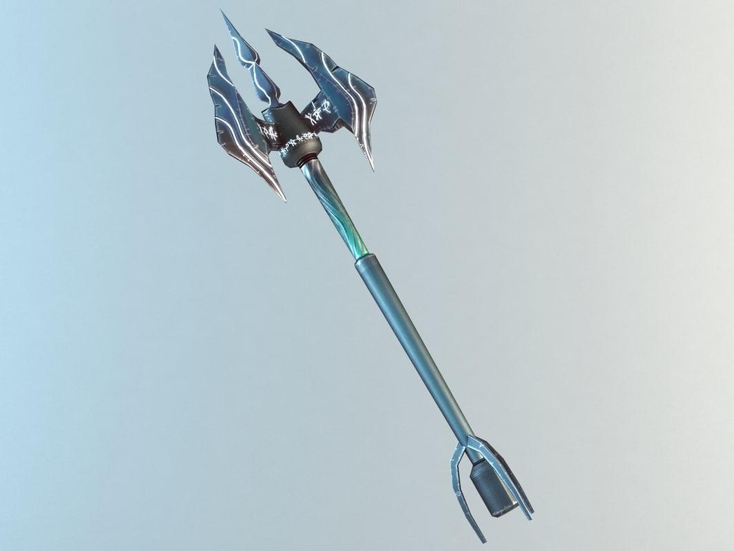 trident tri fantasy 3d model