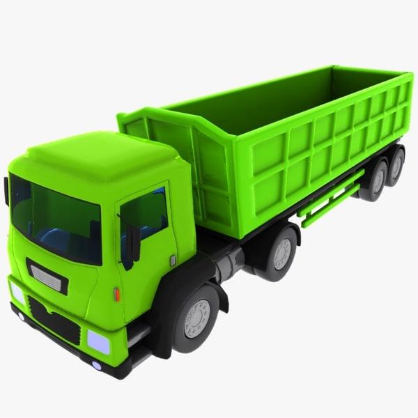 cartoon truck toon 3d 3ds