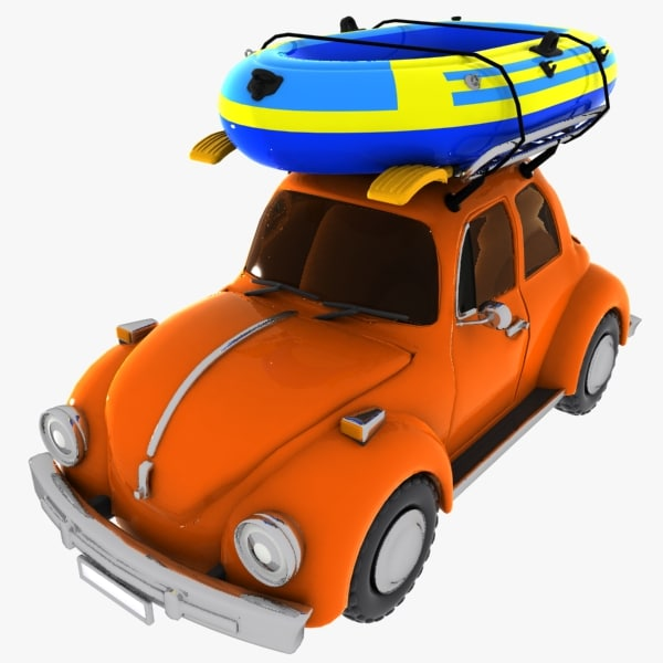 3ds max cartoon boat car