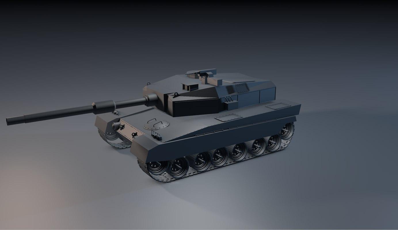 japanese tank 3d c4d