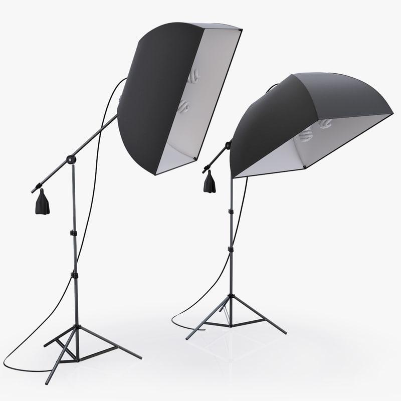 3d softbox limostudio lights studio