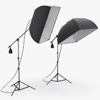 3d softbox limostudio lights studio