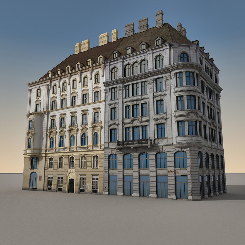 3d european architecture buildings europe