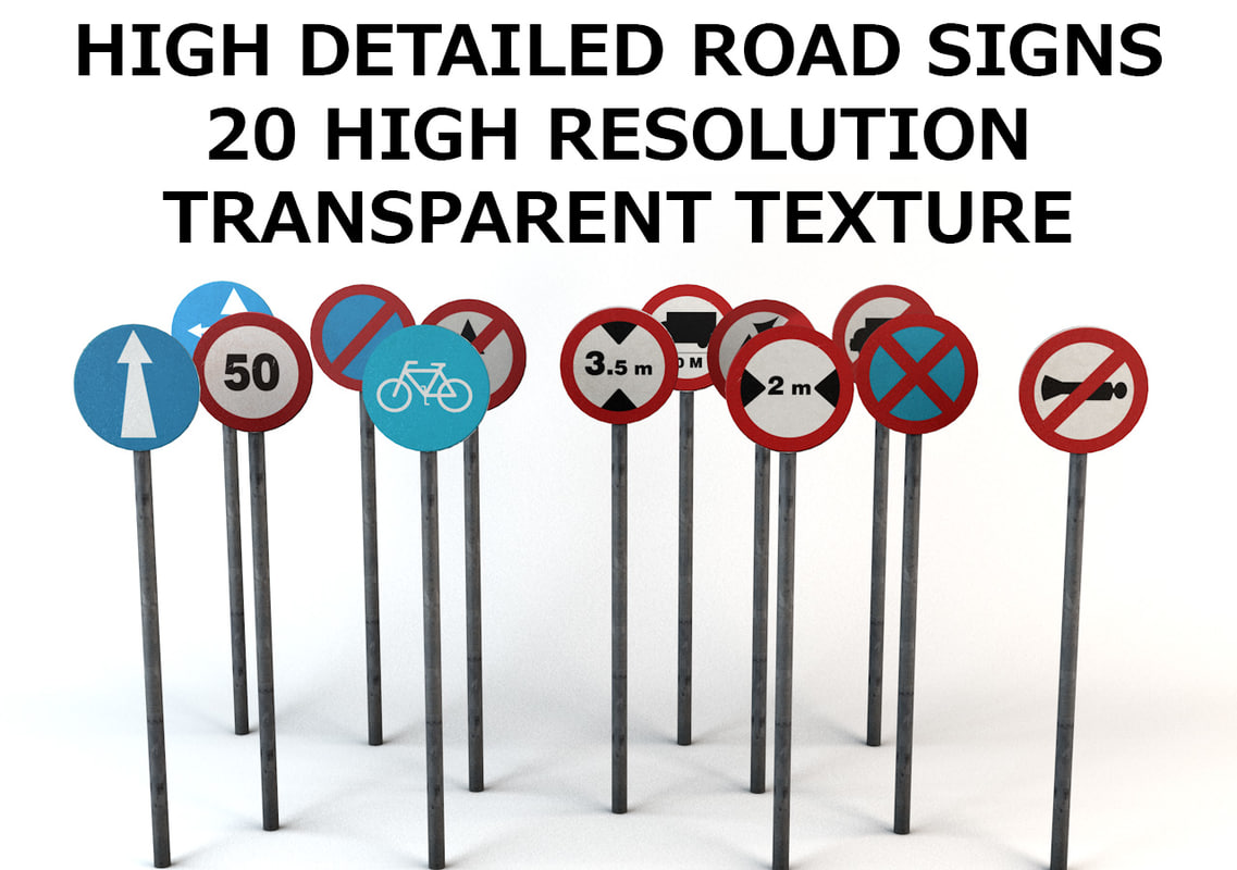 road signs pack c4d