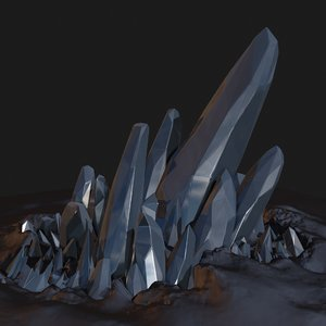 space crystal 3d model