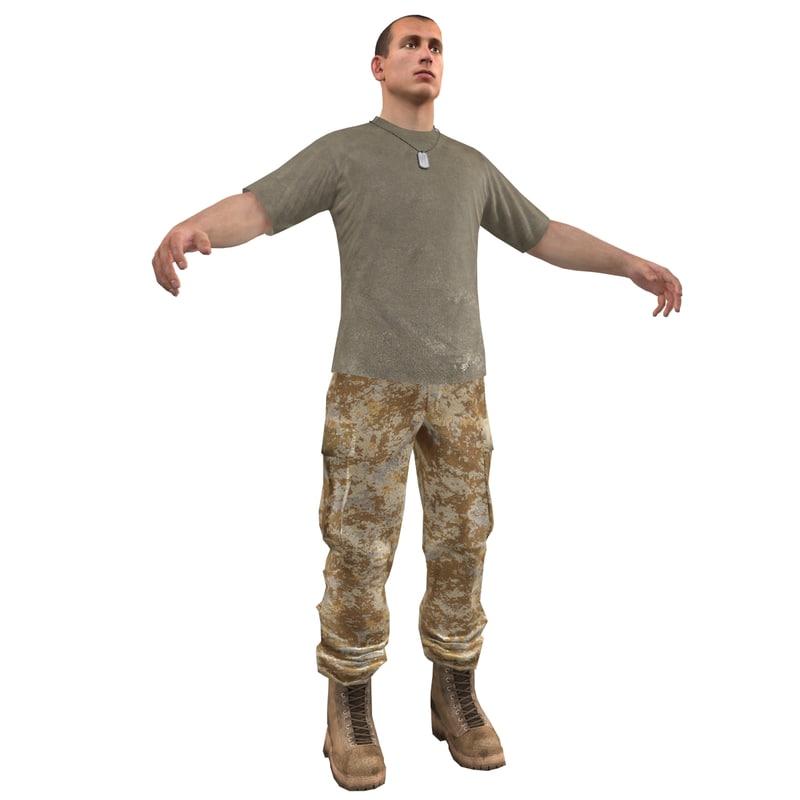 base soldier 1 3d model