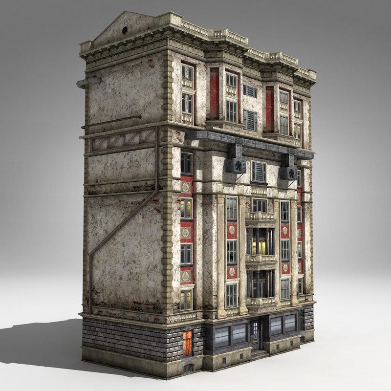 3d model 6-storey house