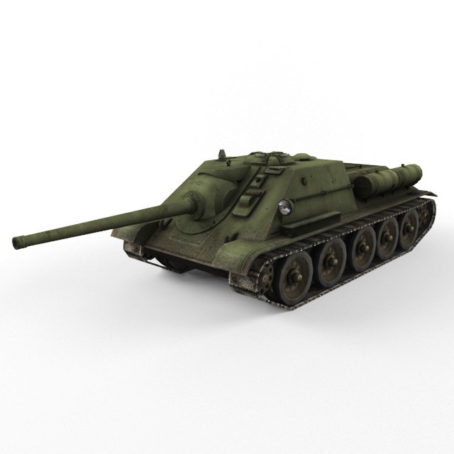 3d soviet su 85 vehicle model