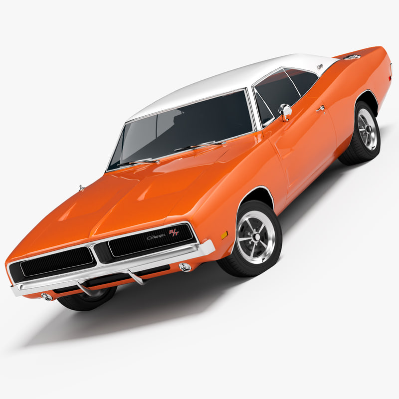 1969 dodge charger rt 3d model