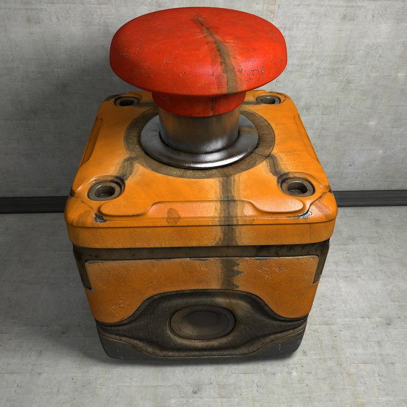 3d model worn emergency switch