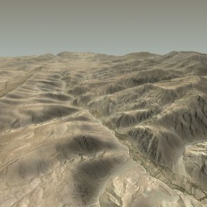 terrain afghan afghanistan 3d model
