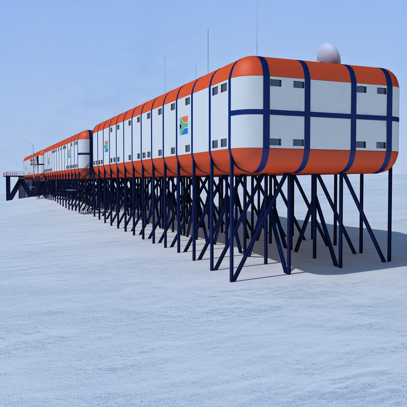 3d model of south african antarctic base