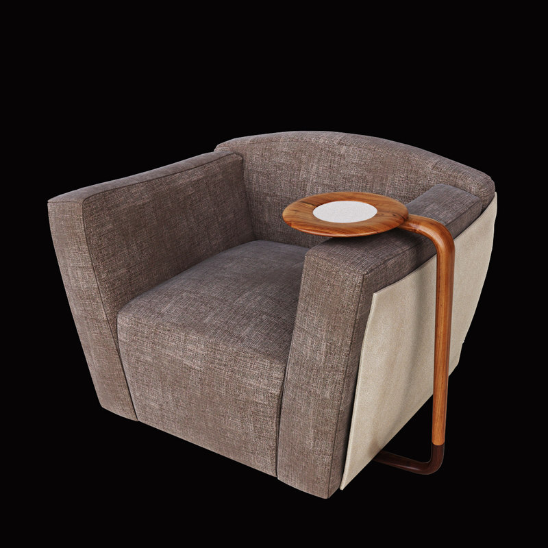 3d model giorgetti chair table
