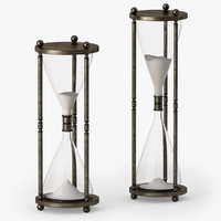 vintage brass hourglass 3d max