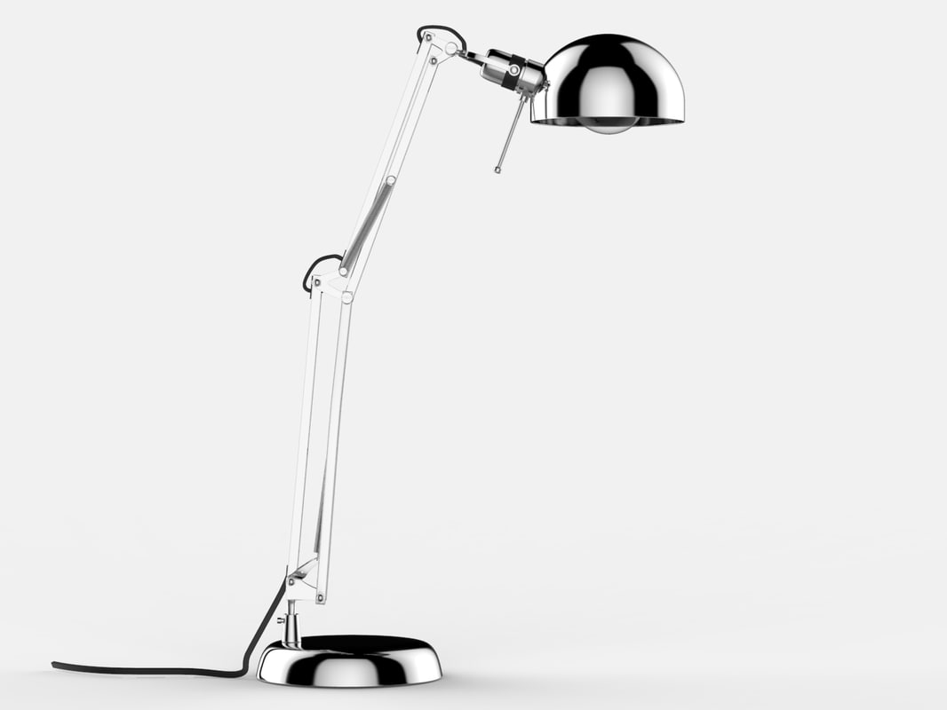 3d model keyshot steel desk lamp