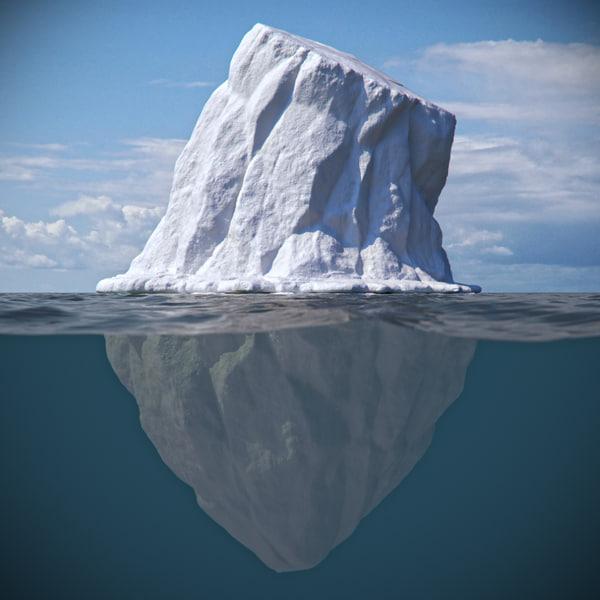 3d ice iceberg berg