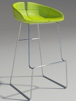 3d model fjord bar stool green