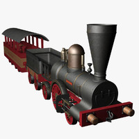3d model john molson locomotive