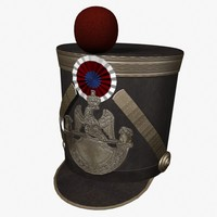 french grenadier shako 3d model