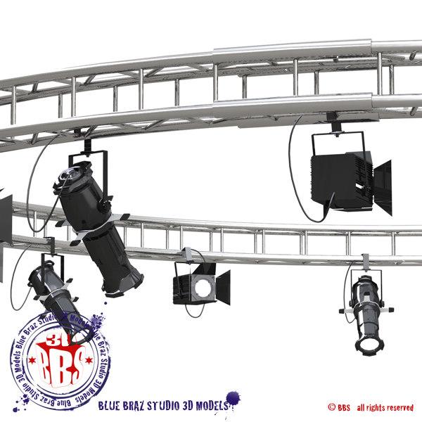 3d dxf truss stages light
