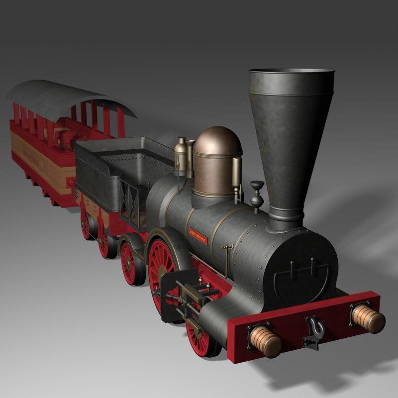 3d model john molson locomotive