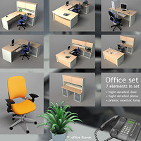 hight office phone set 3d ma