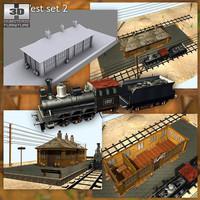 3ds wild west railstation train