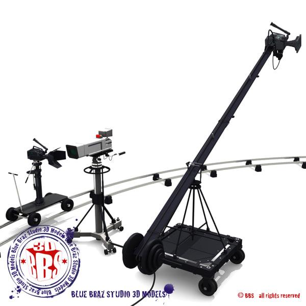 3d broadcast camera model