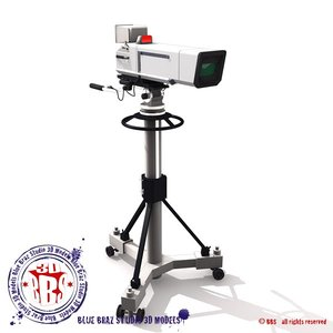 broadcast camera 3d model
