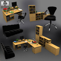 3d office set 3
