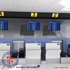 3d c4d check airport