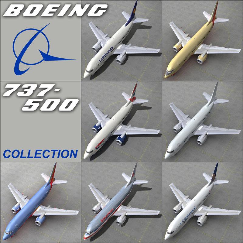 boeing 737 500 - 3d 3ds