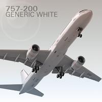 757-200 Generic White