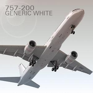 757-200 generic white 3d max