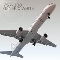 757-300 Generic White