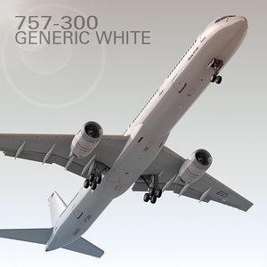 3d 757-300 generic white model