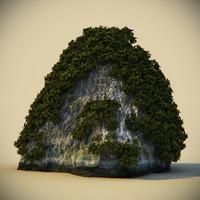 3d rock plants