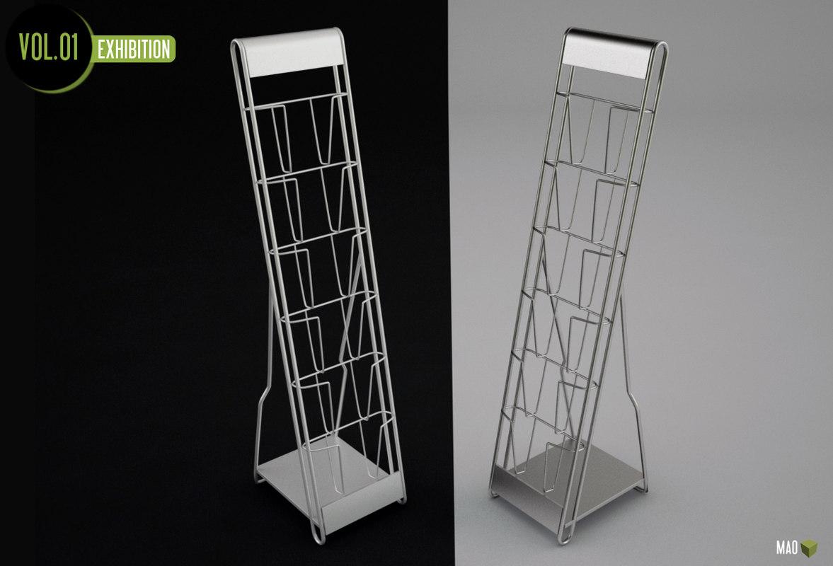 leaflet rack 3d model