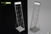 leaflet rack 3d model