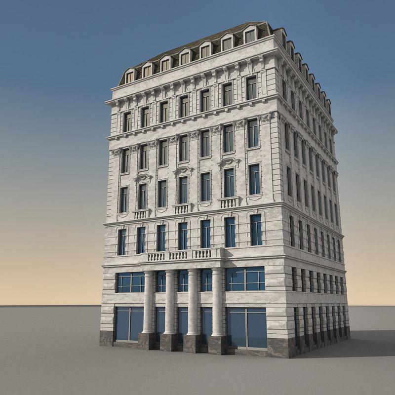 european europe building 3d model