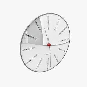 arne jacobsen clock s 3d max